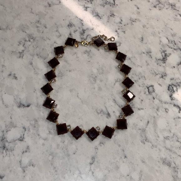 J. Crew Jewelry - J.Crew purple and rhinestone necklace